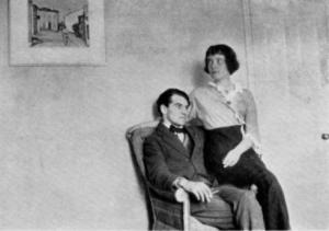 Katherine Mansfield with John Middleton Murray