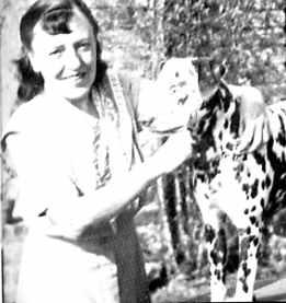 Dodie with dalmatian